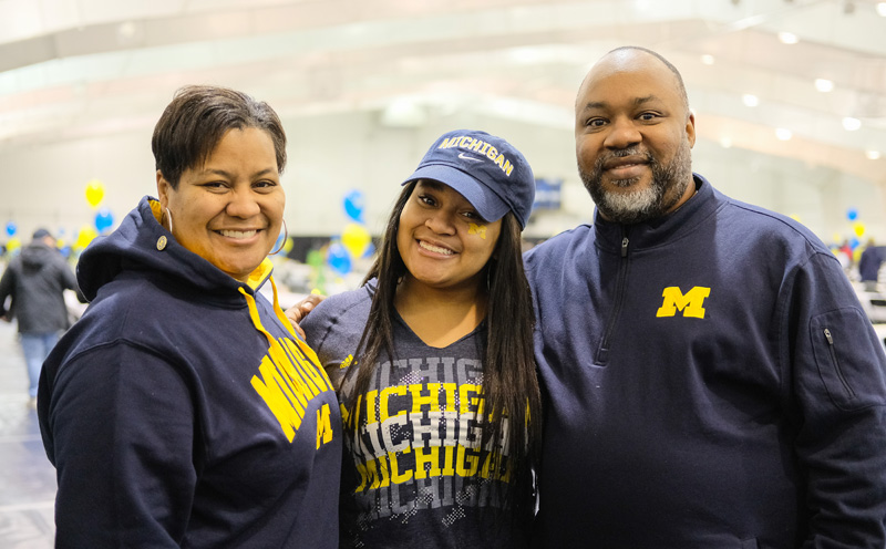 University of Michigan family photo