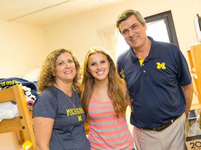 Image of U-M Student with Her Parents