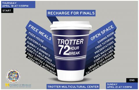 72 Hour Study Break flyer