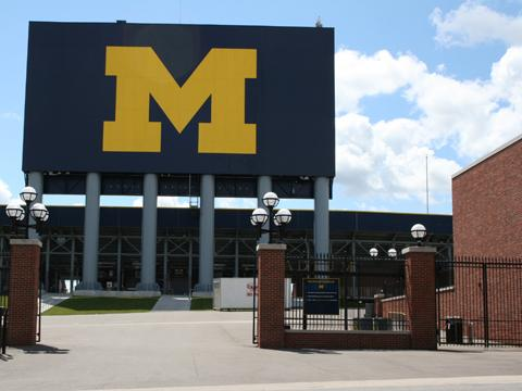 University of Michigan Stadium Gates photo by Lisa Longlois