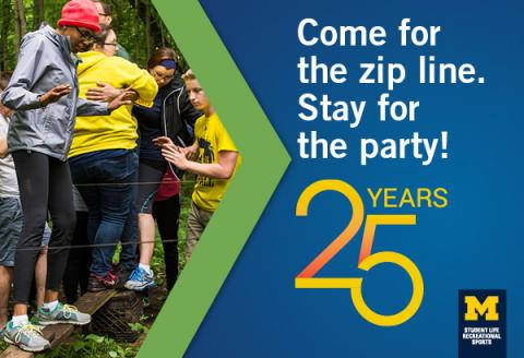 Poster for 25th anniversary zip line