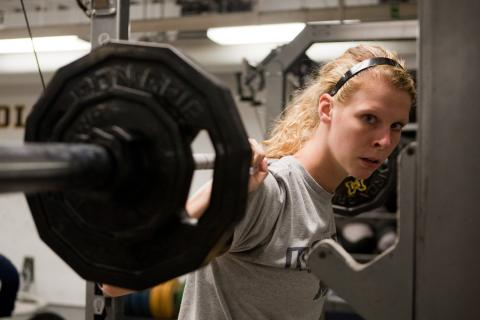 Image of Student Weightlifting