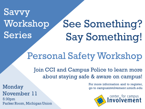 See something? Say something! Personal safety workshop