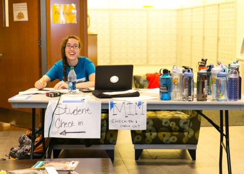 Image of Student Working During Move In