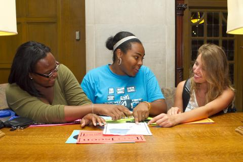 Image of 3 Students Working Together