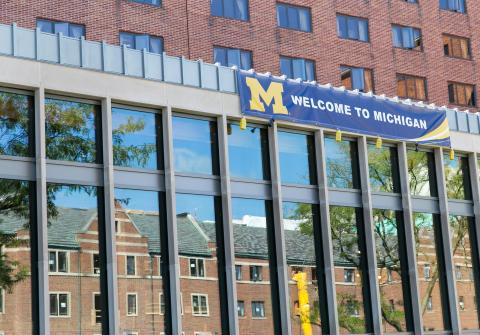 Image of Welcome to Michigan banner