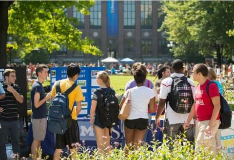 Image of students at festifall