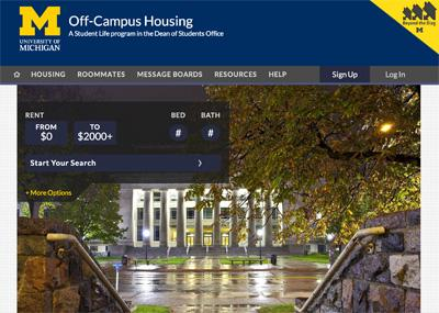Off Campus Housing Website