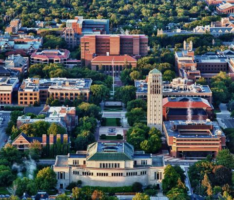 Aerial Image of U-M Campus