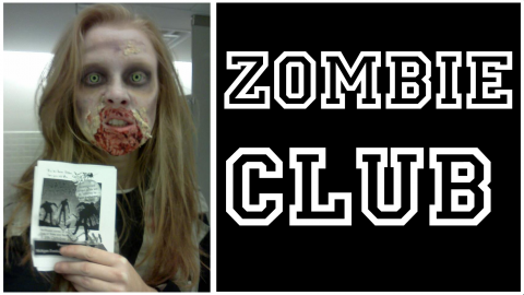Student dressed as a zombie