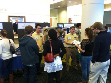 students at the U-M housing fair
