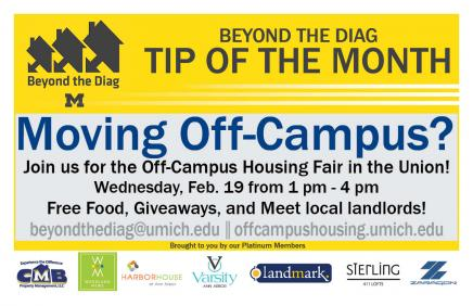 moving off-campus tip of the month