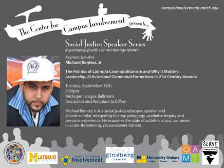 The Center for Campus Involvement presents Social Justice Speaker Series