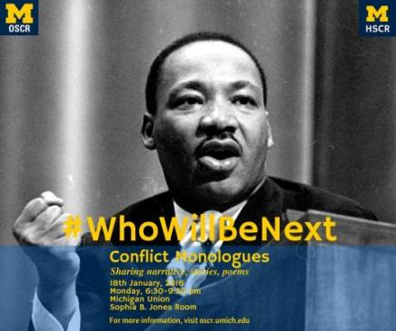 Who Will Be Next poster with Martin Luther King