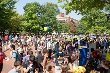 Image of Festifall Gathering on the UM Diag