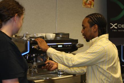 keyon Purite at Michigan Coffee Conference