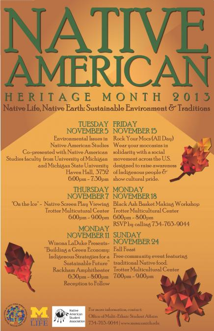 Native American Heritage Month poster