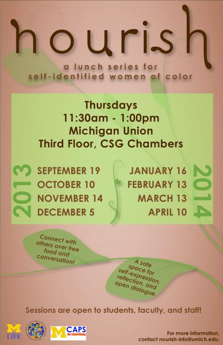 Nourish: a lunch series for self-identified women of color