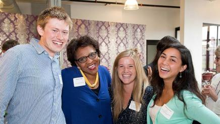 Image of VP Harper with Students