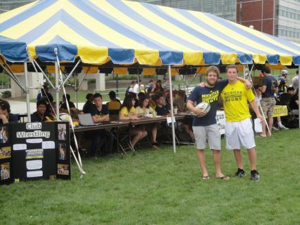 Image of U-M Rugby players at expo