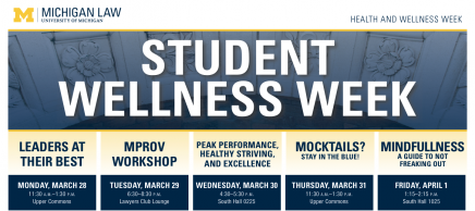 Student Wellness Week poster - details in article