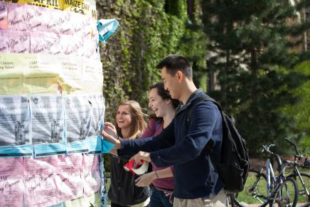 Image of Students Hanging Flyers