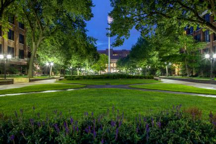 Michigan Diag at night