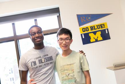 Image of 2 Smiling U-M Roomates