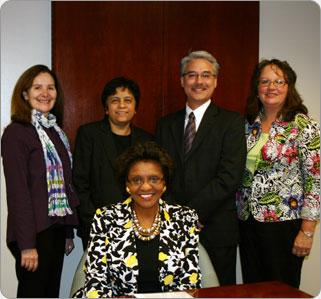 Vice President of Student Affairs E. Royster Harper and staff