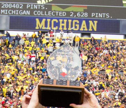 OSU vs Michigan Blood Battle trophy