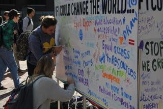 If I could change the world dry eraser board