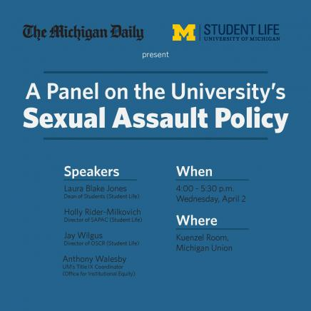 Sexual Assault Policy Panel Image
