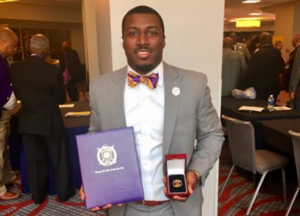 Raymond Smith-Byrd, was awarded the honor of the International Undergraduate Omega Man of the Year