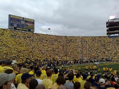 michigan fans in stadium