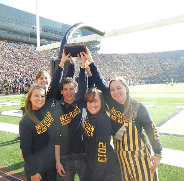 Students with trophy