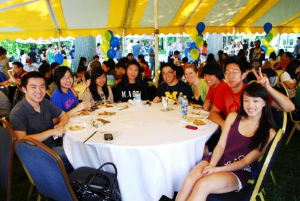 Students learn about MESA at Taste of Culture event