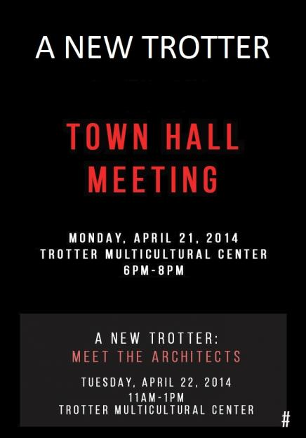Trotter Town Hall Meeting Poster