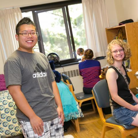 Students in their dorm room.