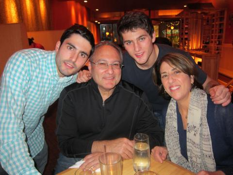 Dad: Gene Goldberg, Mom: Amy Lazarus and their sons Ben, who is a senior at John