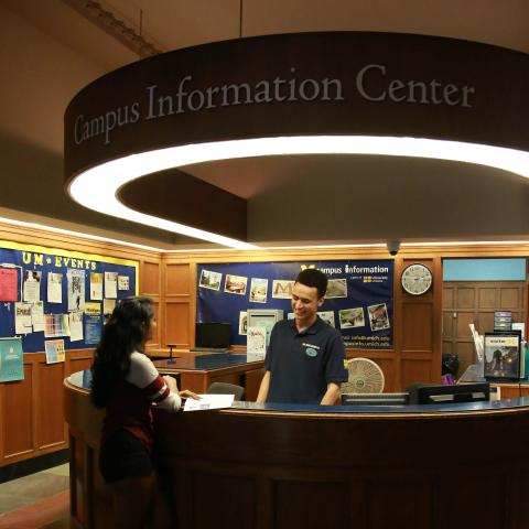 Campus Info desk at Michigan Union