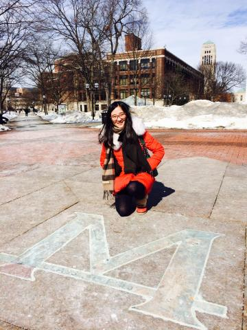 Alum Shuyi Li revisits the center of the UM diag in the spring
