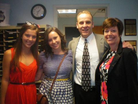 Archambault Family in the Office of Greek Life