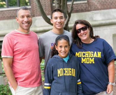 U-M family on campus