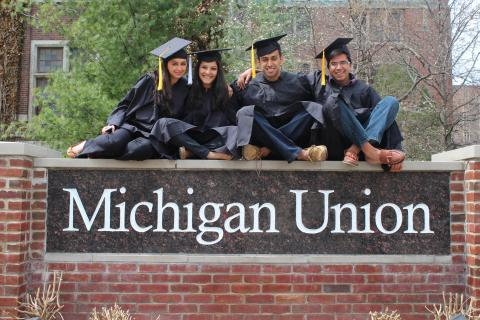 Seniors at Michigan Union