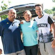 Family at Student Move In, 2014