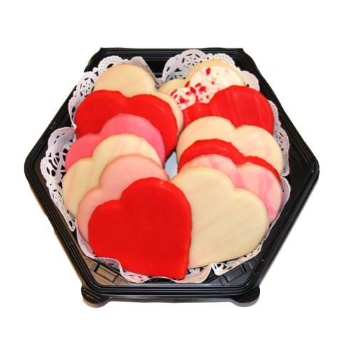 Heart-shaped sugar cookies