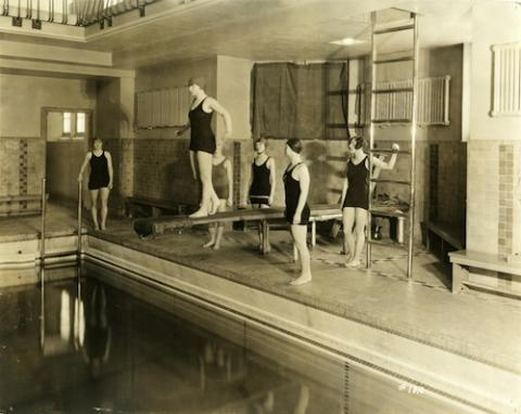 Swimming at Union Pool, ca. 1925