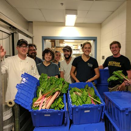 Students with freshly harvested produce