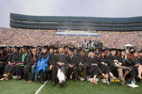 Graduates in the stadium