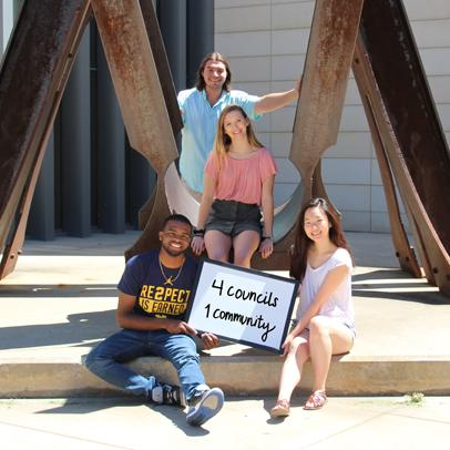 Four students from 4 Greek Life Councils